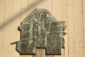 Plaque commemoration of Lt Col Frost's HQ, nr Arnhem Bridge