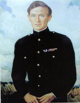 Painted portrait of Tony Hibbert