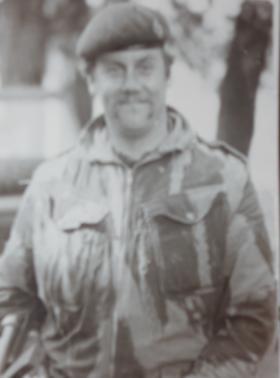 Cpl Bob Anderson in Northern Ireland, 1973