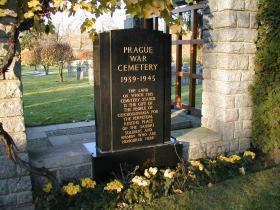 Prague War Cemetery memorial stone