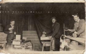 Pre-war photo of Jim Lund with friends, Haworth, Yorks