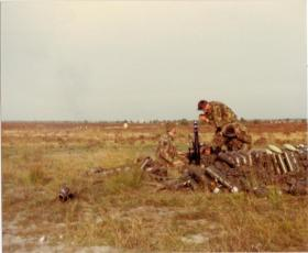 Pte Lee Crichton, A Coy 4 PARA Mortars, live firing in Minnesota, 1983