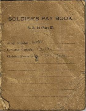 Pte Ralphs' Part 2 Pay Book