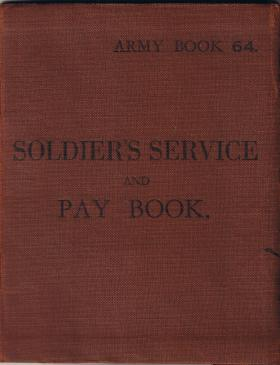 Pte William Ralphs' replacement Army Pay Book