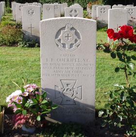 Grave of Lionel Queripel, Oosterbeek War Cemetery, Arnhem, 2009