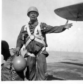 En-route from Egypt to Jordan for parachute exercise, 1952