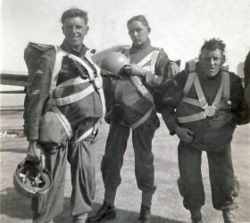 Paras ready for a practice drop to Jordan, at RAF Kabrit, Egypt, 1952