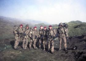 2 PARA RAP in The Bower on Darwin HIll after the surrender, 1982.