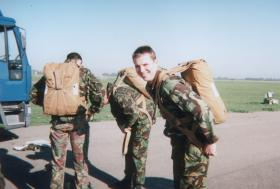 Pte James Robson of 16 Detachment, 4 PARA, 1996