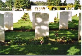 RSM Cunningham's Grave, Ranville Cemetery