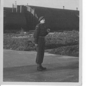 RSM George Gaunt at the Fargo Camp, Depot of the Glider Pilot Regiment