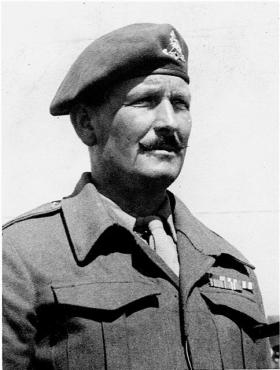 RSM John Siely of 33 Airborne Light Regt RA, pictured in 1947
