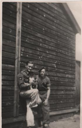 Ralph Baverstock with a friend on camp