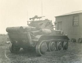 Bren Gun position on an Airborne Tetrarch tank, c.1944