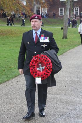 Steve 'Yank Thayer on Remembrance Parade, 2009