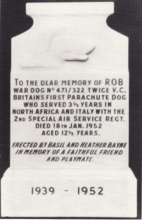 Rob the Para Dog's Headstone