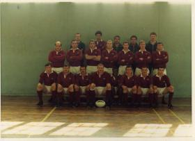 Group photograph of 3 PARA Rugby Team, Tidworth