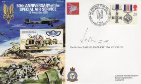 SAS Commemorative Cover signed by Lord Jellicoe