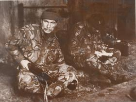 Soldiers 'Yank' and 'Egor' of the Close Observation Point (COP), 2 PARA, Northern Ireland, 1980