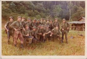 Informal group photograph of 2 Para Mortar Platoon, Malaya, 1975