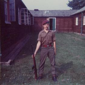 Steve J Thayer whilst in Junior Parachute Company (JPC), 1973