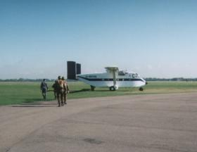 Parachute stick prepare to emplane onto a Skyvan, 1996