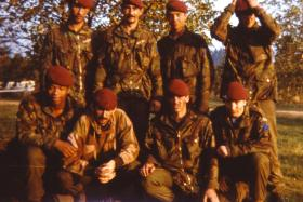 Corporal Stephen Prior (front row, second left) with group from 2 PARA.