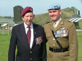 SSgt Arthur Shackleton of B Sqn, GPR and Maj Mike 'Chalky' Peters, 4 Regt AAC at the Merville Battery, June 2008