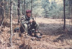 S/Sgt Brian Williams PSI of 144 PFA, Nottingham Detachment at Guildford training area, 1984