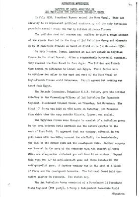 Description of the capture of El Gamil airfield by 3rd Parachute Battalion.