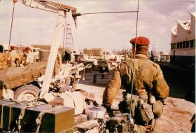Load-in of heavy drop supplies and equipment in Cyprus before Operation Musketeer.