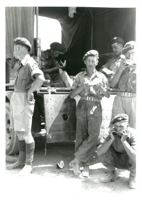 Paratroopers at rest in the Canal Zone.