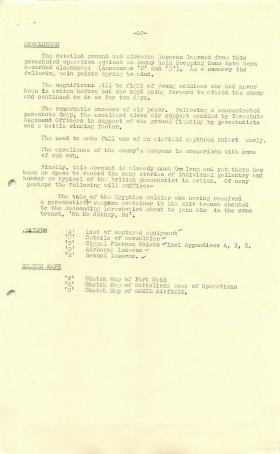 Report on the execution of Operation Musketeer.