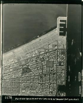 Aerial shot of Port Said.