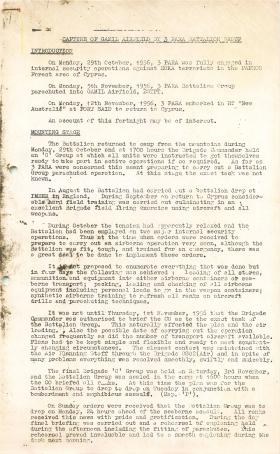 Report on the mounting of Operation Musketeer.