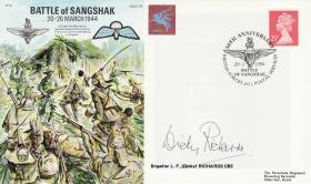 Sangshak Commemorative Cover signed by Brig Dicky Richards
