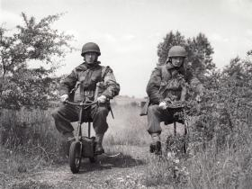 Paratroopers on Airborne Welbikes