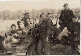 Eric Tripp and colleagues from North Somerset Yeomanry