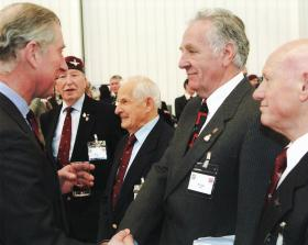 Eric Tripp alongside other veterans at the Airborne Assault opening