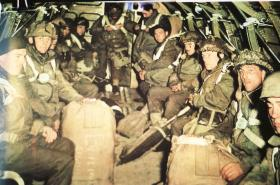A Parachute Stick onboard bound for Operation Dragoon