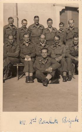 Group portrait of men of HQ 2nd Parachute Brigade