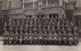Group photograph of Tony Hibbert's Staff Officer Course Cadre