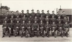 Officers of the 2nd Para Bn, Cottesmore, after Arnhem, winter 1944.