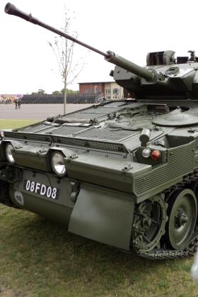 Scimitar showing the driving position