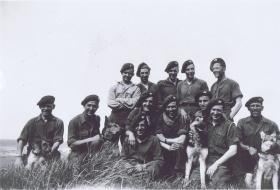 Scout Platoon of 13th (Lancs) Parachute Battalion with Para Dogs, Wismar, Baltic, May 1945.