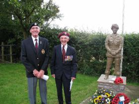 Sculptor Roy Cleeves with Brig Mike Dauncey at Double Hills Memorial