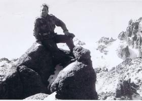 Sgt Mike Wailing near the summit of Mount Kenya
