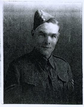 Portrait of George A Fox, whilst Sgt in Green Howards, 1936
