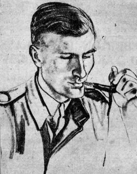 Sketch of Lt Col John Rock
