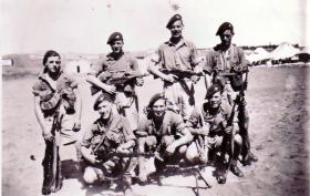 Small group photograph of 2nd Para Bn soldiers, Palestine, 1946.